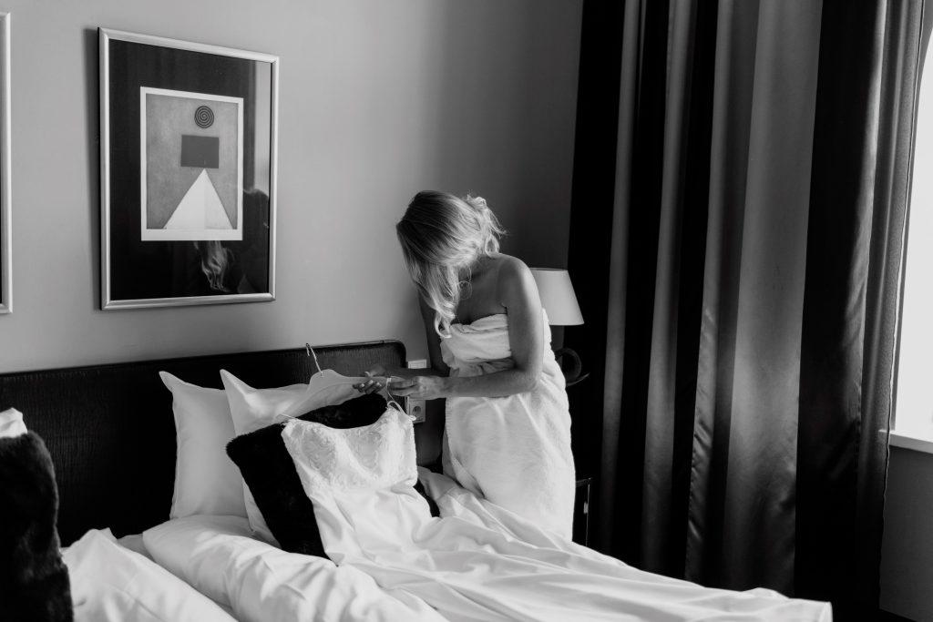 Hääyö hotelli Lilla Robertsissa Helsingissä.